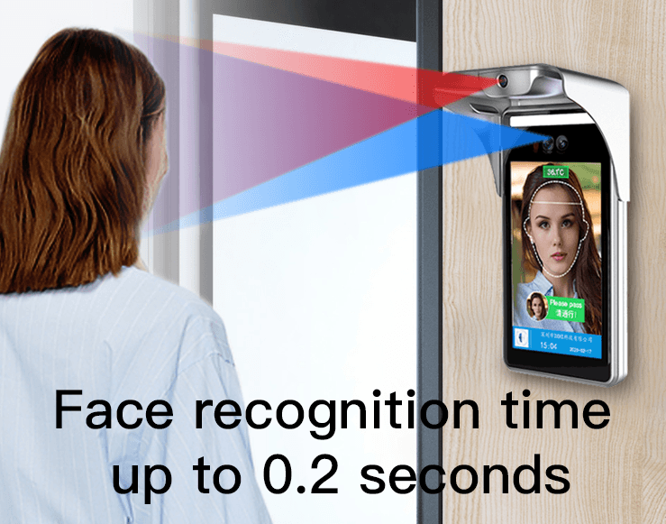 Desktop  8-Inch Face Recognition Thermometer